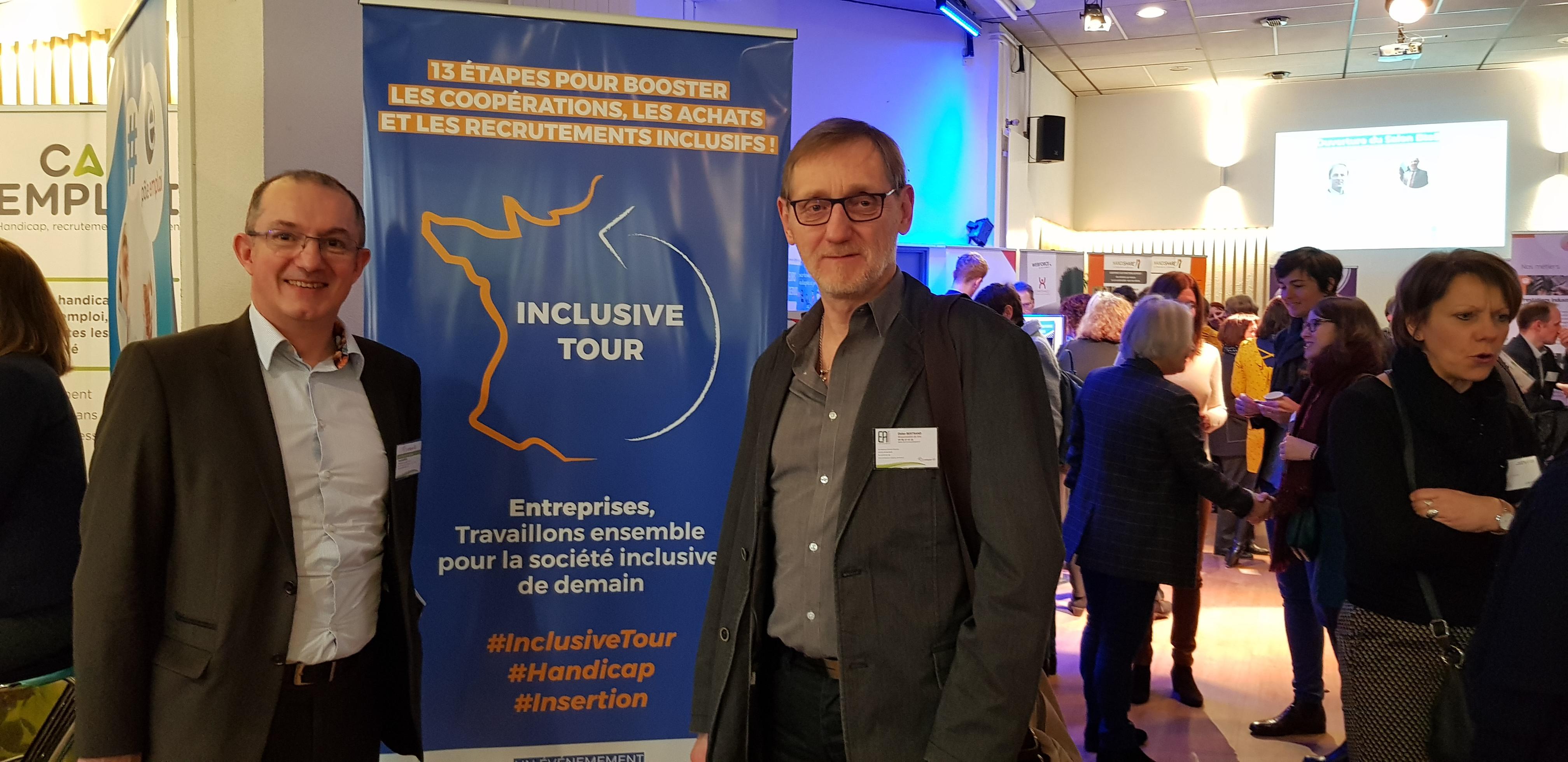 Yvan Mortier.directeur secteur travail.Adapei07et Didier Bertrand Responsable de site de l EA Annonay